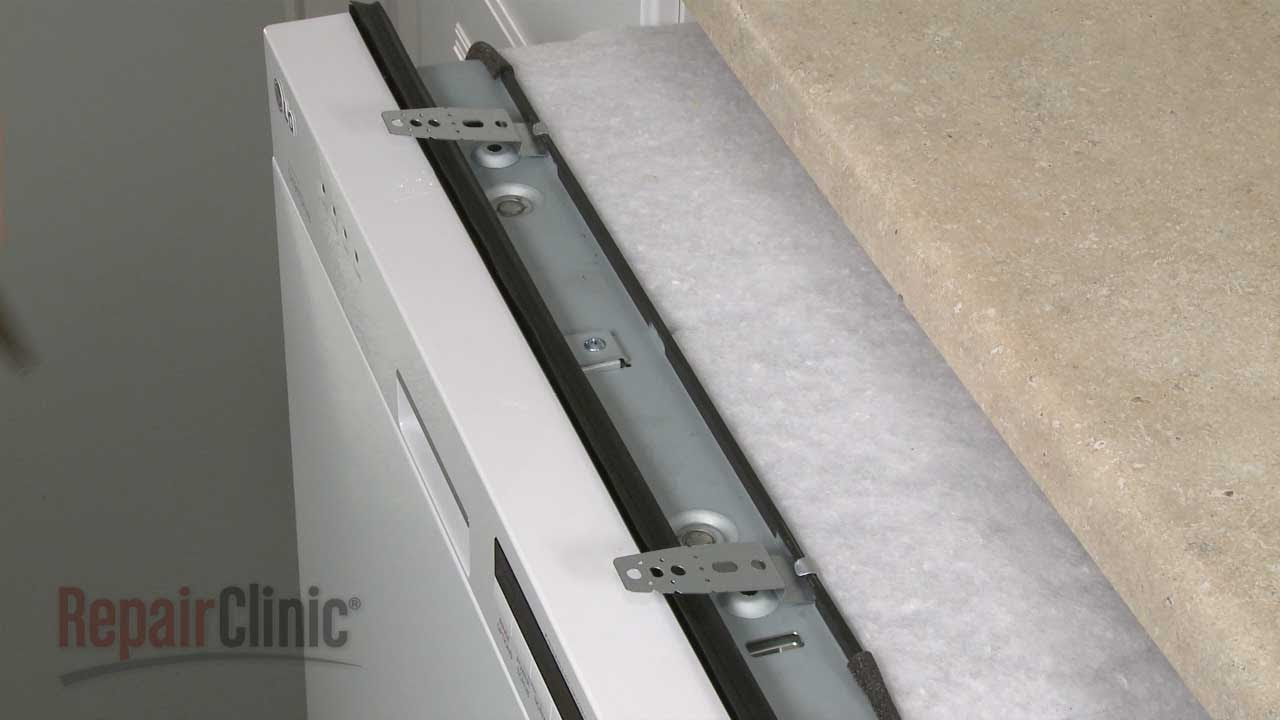 Countertop Dishwasher Mount : LG Dishwasher Mounting Bracket Replacement #5001DD4001A - YouTube