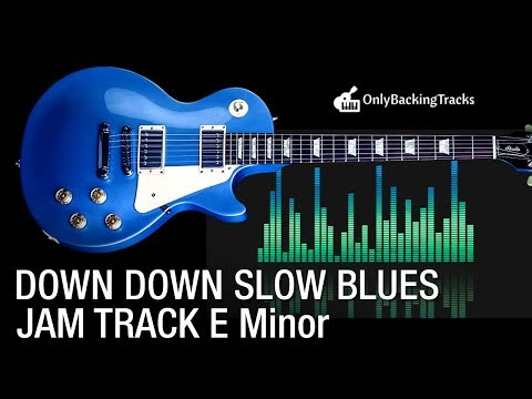 Down Down Blues Guitar Backing Track in Em