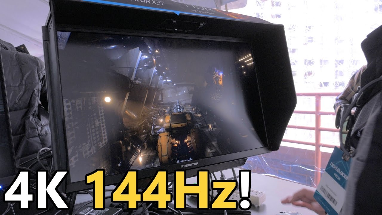 Acer X27 4K 144Hz HDR G-Sync Monitor HANDS ON