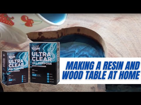 DIY Resin and Wood Table | How to pour Resin to fill voids in wood #DIY #Haksons