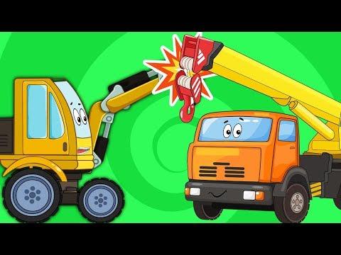 Мультик Про Машинки – Подъемный Кран Автобус Синий Трактор – Сборник Все Серии Подряд