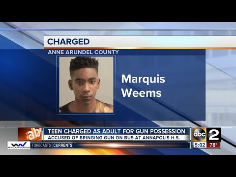 Annapolis High School teen to be charged as an adult
