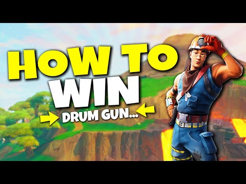 How To WIN With Drum Gun! This is too easy...