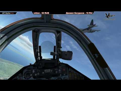 VAT Skyline  Су-25 полет пары на полигон (Тренировка)