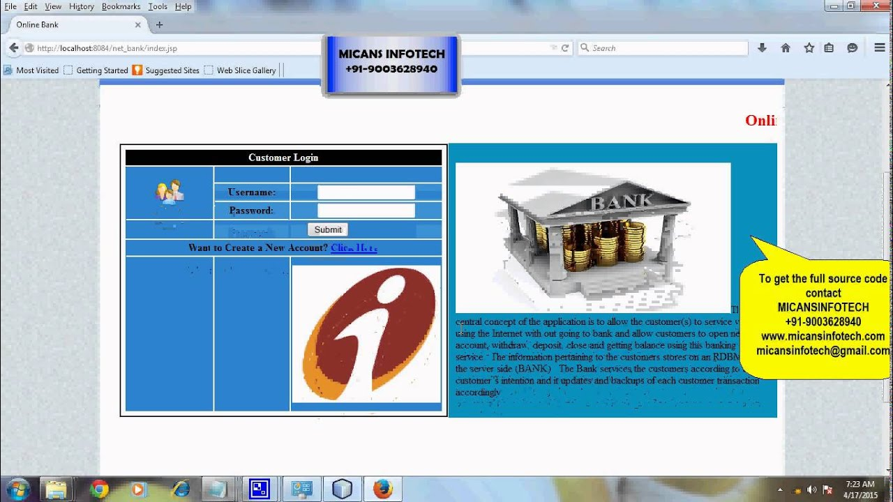 online mobile banking java