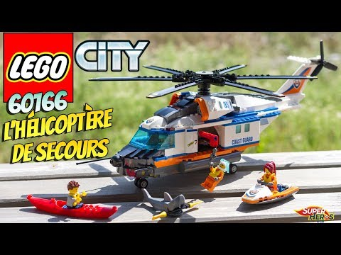 LEGO CITY l'Helicoptere de Secours 60166 Sauvetage en mer Requin Jouets Toy Review Speed Build