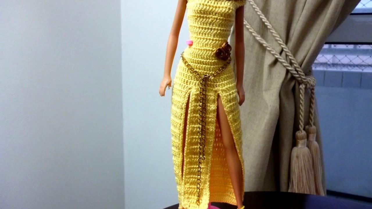 Croche Barbie Vestido Longo De Croche Para Barbie Por