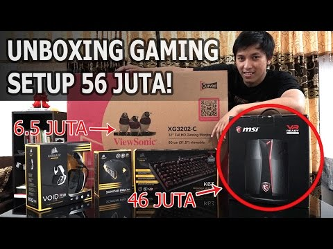 UNBOXING PC GAMING SET SPEC SULTAN: MSI VORTEX DUAL VGA