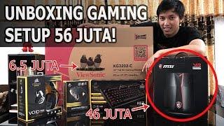 unboxing pc gaming set spec sultan msi vortex dual vga