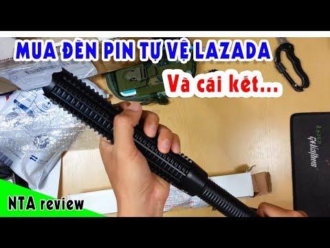 Đèn Pin Tự Vệ Siêu Sáng Lazada đánh Giá Và Cái Kết ... ||NTA Review