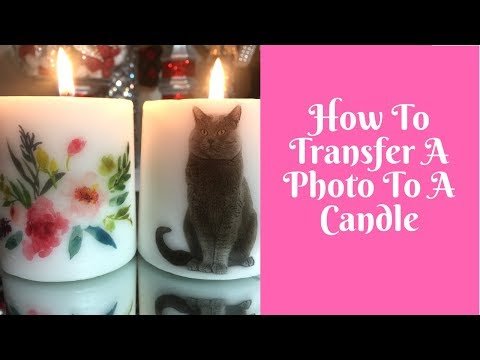 Everyday Crafting: How To Transfer A Photo To A Candle