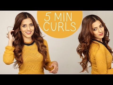 How to : Curl Medium To Long Hair / Indian hairstyles / How To Get Long Lasting curls in easiest way