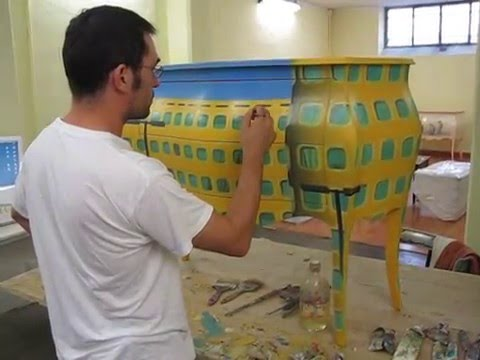 Mobili dipinti a mano italian artwork furniture interior for Mobili dipinti di design