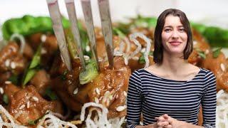 How To Make Alexis&#39s Chicken Teriyaki Crispy Rice Noodle Bowl  Tasty