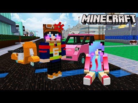 MineCraft อุบัติเหตุหัวร้อนมาสร้างถนนเส้นทางของสองเรากัน