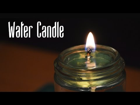 How to Make a Water Candle 🌊🕯️