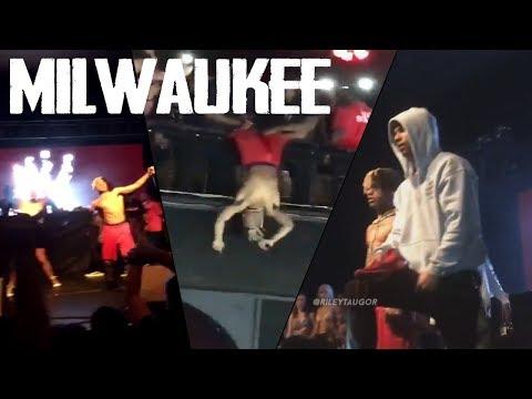 XXXTentacion - Live performance (MILWAUKEE - THE REVENGE TOUR) + X performing upside down