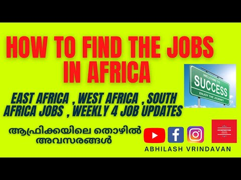 How to find international jobs from India | Job update 26 : Jobs in Africa | South Africa jobs