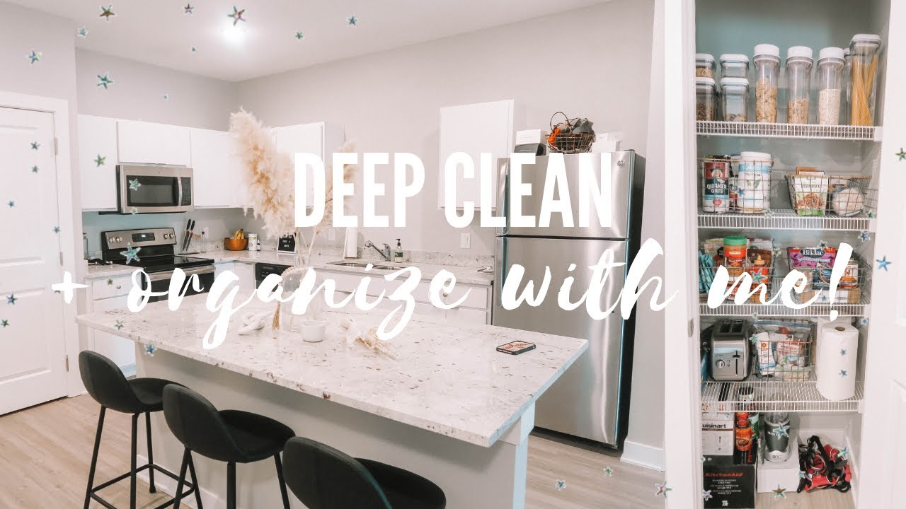 deep clean & organize with me!! | kitchen & pantry organization
