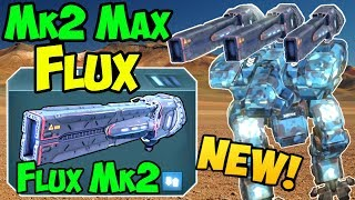 War Robots NEW Weapon Flux Mk2 Maxed Gameplay Analysis - WR 3.8
