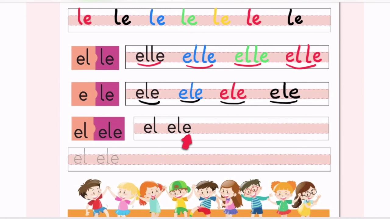 İlkokuma Yazma Öğretimi E L Sesi Birleştirme Çalışmaları