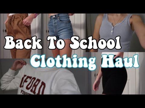 Back to school clothing try on haul