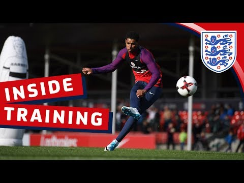 England shooting session with Kane, Defoe & Rashford | Inside Training