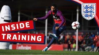 England shooting session with Kane, Defoe & Rashford | Inside Training