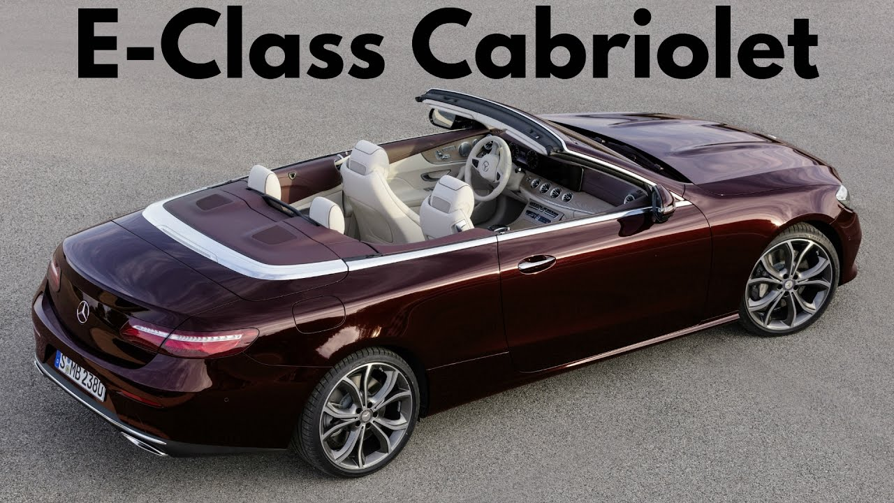 2017 Mercedes E Cl Cabriolet Avantgarde Premium Fabric Soft Top