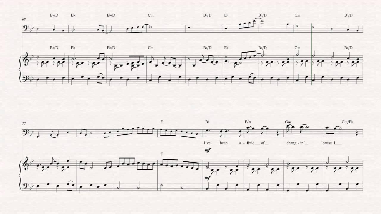 Bass Landslide Fleetwood Mac Sheet Music Chords Vocals