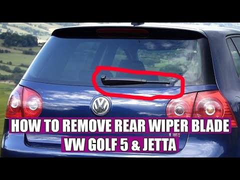 How to replace the rear wiper blade on a VW Golf Mk5, Passat B7