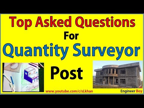 Top asked interview questions for Quantity surveyor post- ci