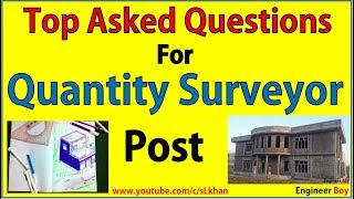 quantity surveyor interview questions and answers pdf