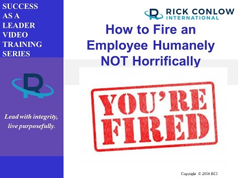 how-to-fire-an-employee-humanely-not-horrifically:-management-training