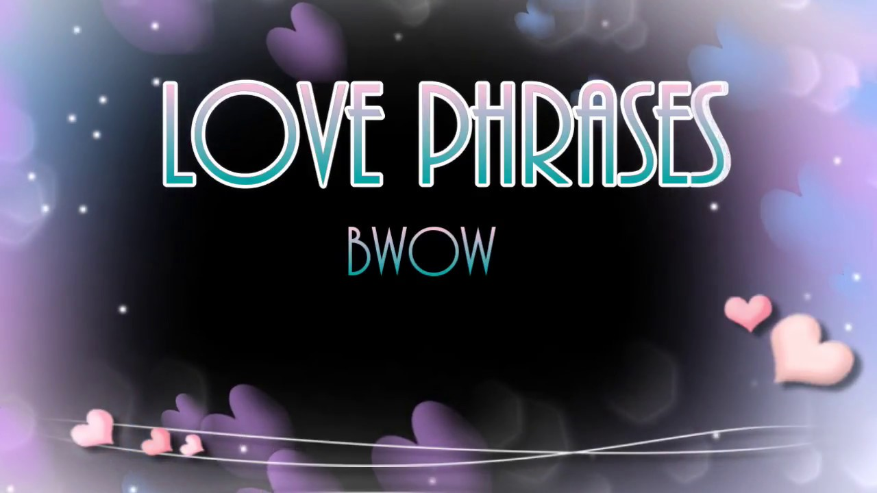 Love Phrases Bgm Learn Bisaya English Cebuano Youtube