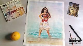 Moana Painting - Disney Fan Art - available on Etsy (no voice over this time)