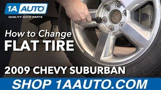 How to Change Flat Tire with Spare 2009 Chevy Suburban