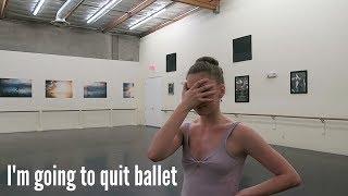 having a mental breakdown in ballet rehearsal