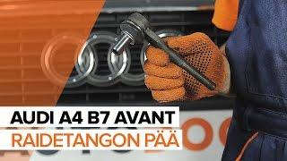 Kuinka vaihtaa Raidetangon Pää AUDI A4 Avant (8ED, B7) - ilmaiseksi video verkossa