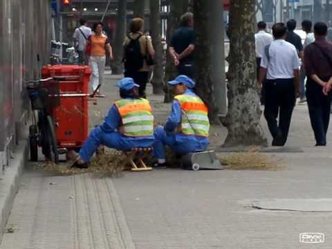 Shanghai Sanitation Worker