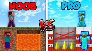 Minecraft NOOB vs. PRO: DEADLY TRAP in Minecraft!