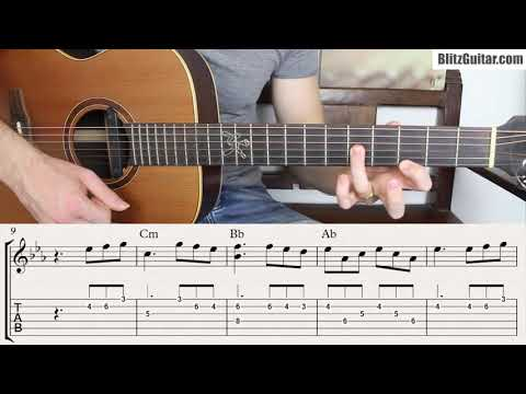 C Minor Fingerstyle Melody for Beginners. Tired of Playing in E minor!