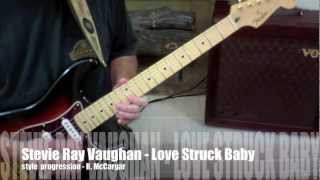 Stevie Ray Vaughan - Love Struck Baby with guitar tablature