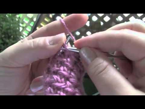 Cách đan khăn len dạng lưới
