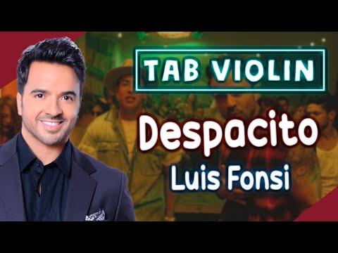 Despacito de Luis Fonsi en Violín |tab,tutorial,partitura,como tocar|HD Tutorial