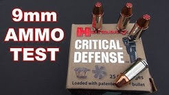 AMMO TEST:  9mm Hornady Critical Defense