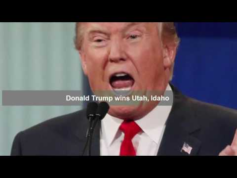 Hillary Clinton wins California, Washington and Hawaii, Donald Trump wins Idaho, Utah