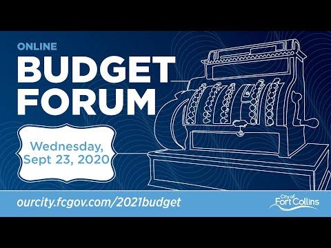 view Online Budget Forum - September 23, 2020 video