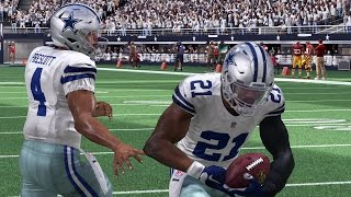 Cowboys vs Redskins | Thanksgiving Day Game Sim - Madden NFL 17 (Xbox One)