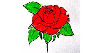 how to draw a rose- step-by-step rose drawing | Eaktas Drawing